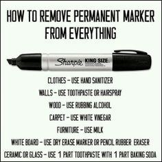 How to remove permanent marker from everything.