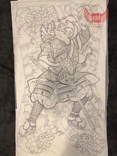 Drawing Cartoon Characters, Cartoon Drawings, Tattoo Samurai, Asian Tattoos, Japan Tattoo, Japanese Tattoo Art, Demon Art, Flash Art, Japan Art