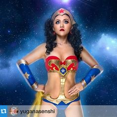 #Repost from @yuganasenshi ・・・My cosplay as Ame-Comi Wonder Woman (V.2) . Photo by @foratshot . Contact lens by @colourvue_lenses . #cosplay #wonderwoman #dc #comic  #colourvue #amecomi #art #contactlens #costume ➖➖➖➖➖➖➖➖➖➖➖➖➖➖➖ Contact lens: Colourvue Space blue