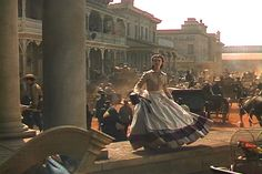 Vivien Leigh as Scarlett O'Hara Hamilton leaves the hospital in a panic when she finds out the Yankees are invading Atlanta in the film classic 'Gone With The Wind'.