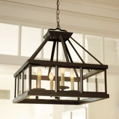 Love the idea of having this hanging low over a dining table, side table or coffee table... SO RUSTIC.  LOVE IT!