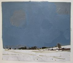 After the Storm Original Winter Landscape Collage by Paintbox