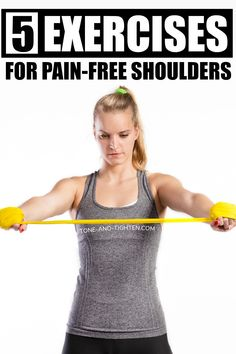 How To Strengthen Rotator Cuff - Physical Therapy Exercises For Shoulder Pain Shoulder Injury Exercises, Scapula Exercises, Neck And Shoulder Exercises, Shoulder Workout, Shoulder Injuries, Shoulder Rehab, Shoulder Surgery, Shoulder Pain Relief, Neck And Shoulder Pain