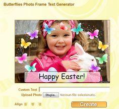 Grafic World: Butterflies Photo Frame Text Generator