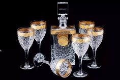 VERSACE _ DRINK SET - 24K