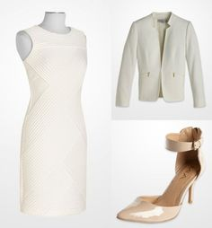 023066aa59ae6 Winter was made for white! Gold accents and neutral shoes keep it chic. #