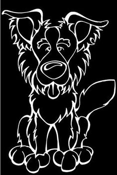 Border Collie Decal Dog – Angry Squirrel Studio
