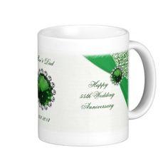 55th Wedding Anniversary Mug Emerald Gifts Parents Year