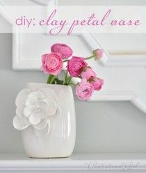 clay petals ~ SO want to try this!