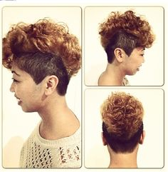 Copper blonde Mohawk | Curly hairstyles for women