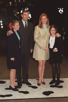 Pin for Later: Royal Fetes and Red Carpets: Princess Eugenie Through the Years  Princess Eugenie has called her parents the healthiest divorced couple she knows. Here's the whole family out in London in 2000.
