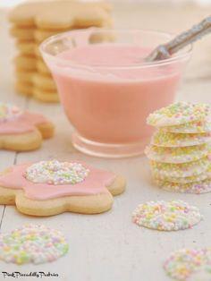 DIY Sprinkle Buttons & Malted Milk Flower Cookies