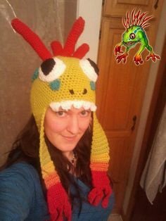 PDF Pattern Wow murloc crochet hat for adults world of warcraft - RWLALALGHLAGHLALALAA