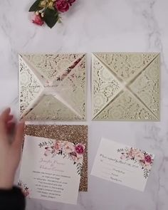 ivory laser cut wedding invitations with floral inner cards wedding videos ivory laser cut wedding invitations with floral inner cards Wedding Invitation Video, Laser Cut Invitation, Laser Cut Wedding Invitations, Diy Invitations, Quinceanera Invitations, Diy Wedding Video, Wedding Videos, Wedding Cards, Wedding Gifts