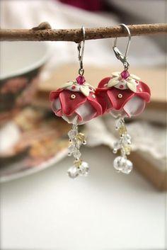 Lotus beads earrings