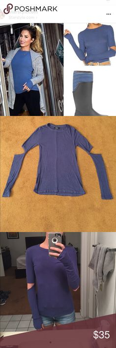 Long sleeve thermal top. Super soft long sleeve thermal with elbow cutouts. JJD wearing the same one on instagram. Also has thumb holes and is a nice long length. Only worn twice. michael lauren Tops Tees - Long Sleeve