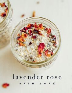 10 minutes · Serves 2 · This quick and easy DIY lavender rose bath soak turns a regular bath into a relaxing, spa-like experience. Make a batch and treat yourself to an indulgent soak or package the mix into cute jars to…