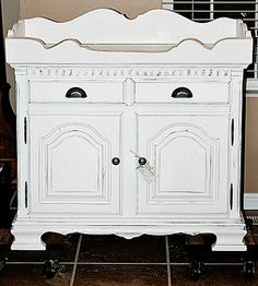 Dry sink makeover - I want to find one of these sooooo bad!!!!