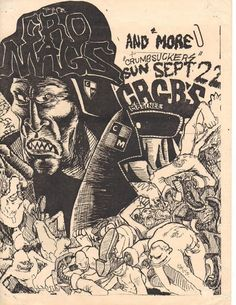 Cro-mags and crumbsuckers at CBGB Punk Poster, Poster Boys, Music Flyer, Concert Flyer, Hardcore Music, Rock Posters, Music Posters, Vintage Concert Posters, Black And White Artwork