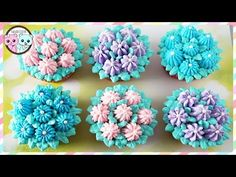 How to Decorate Cupcakes with Tip 100 – 8 ways! - YouTube