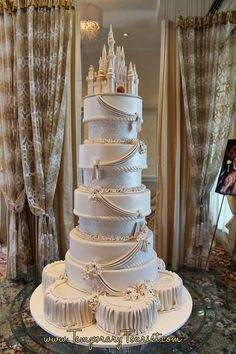 Disney wedding cake. I do not want to know how much this would cost lol.