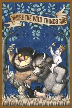 Where The Wild Things Are - Max Riding Wild Thing by Maurice Sendak. Poster from AllPosters.com, $9.99