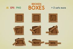 Check out Broken boxes by yurakr on Creative Market