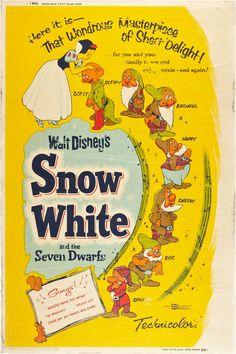 Snow White and the Seven Dwarfs - disney movie poster