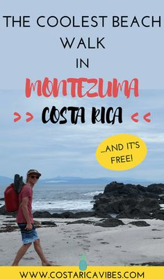 Montezuma Costa Rica is one of the most beautiful spots in the country. The long beach walk is the perfect free activity for travelers. Want to find out how you can do this cool activity? #CostaRica #puravida #budgettravel
