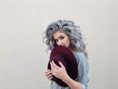 Gorgeous silver pastel hair