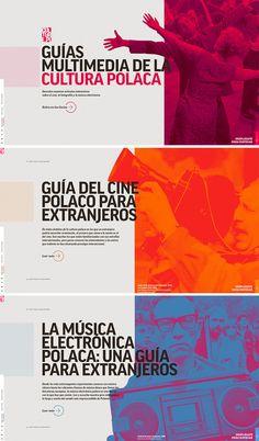 Multimedia Guides to Polish Culture Graphic Design Flyer, Event Poster Design, Corporate Design, Book Design, Layout Design, Mise En Page Web, Site Web Design, Creation Site, Magazin Design