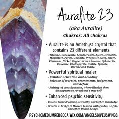 Auralite 23 crystal meaning Crystal Magic, Crystal Healing Stones, Crystal Grid, Amethyst Crystal, Healing Rocks, Gems And Minerals, Crystals Minerals, Crystals And Gemstones, Stones And Crystals