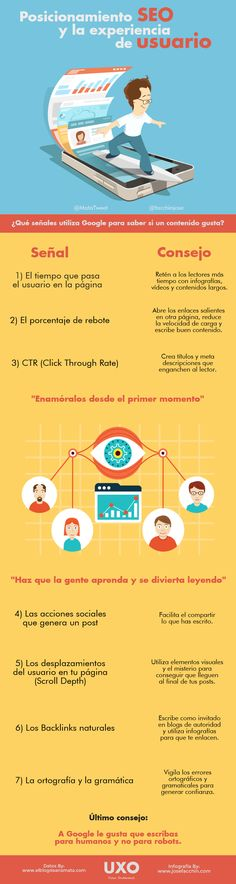 El nuevo posicionamiento SEO y la experiencia de usuario (UXO) #infografia #marketing #seo