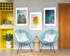 Life by the sea • Retro - Living room ✓ 365 Day Money Back Guarantee ✓ Consulting on the Pattern Selection ✓ 100% Safe✓ Set up online!