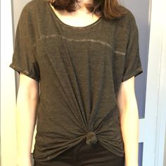 Burnout grey oversized fluxus tee Super soft, slightly sheer oversized grey tee from Fluxus! Wear it lose as is, or tie it in a knot around the waist for a fun twist and tighter fit! This tee is a size small, but is very oversized, it may fit a variety of sizes depending on the look your going for!                                                         Love the tee, but not the price, make an offer! Fluxus Tops Tees - Short Sleeve