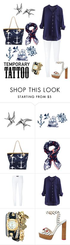 """""""Nautical"""" by ceridwen86 ❤ liked on Polyvore featuring beauty, Tattly, Cozy by LuLu, Dolce&Gabbana, La Mer, Sophia Webster, Nautical, contestentry and temporarytattoo"""