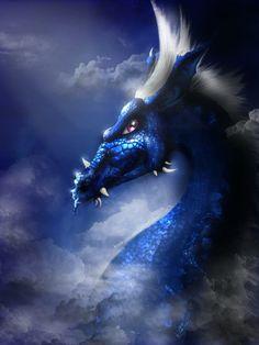 sapphire dragon | Sapphire Dragon by KrolKushi