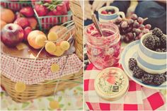 Juicy summer fruit; picnic.
