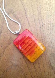Fused Glass Pendant by WMGlassArtStudio on Etsy, $20.00