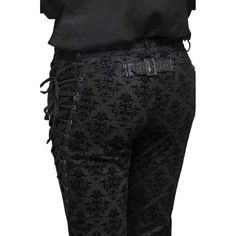 Viktorianische schwarze Hose mit Schnürungen | VOODOOMANIACS Gothic Fashion, Mens Fashion, Gothic Outfits, Elegant, Alternative Fashion, Parachute Pants, Trousers, Footwear, Costumes