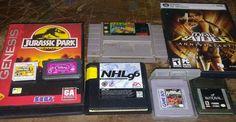(8) ASSORTED SEGA SUPER NINTENDO GAME BOY 3DS GAMES LOT UNTESTED SUPER MARIO 2 #GameBoy
