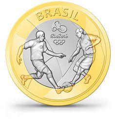 Moedas - Rio 2016 - Futebol