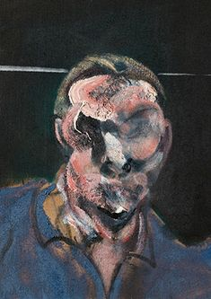 Francis Bacon, Head (Man in Blue), 1961 Francis Bacon, Robert Motherwell, Cy Twombly, Gerhard Richter, Richard Diebenkorn, Sad Art, Architecture Tattoo, Art For Art Sake, Sculpture