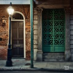 Some intricate and beautiful ironwork on Royal Street in the French Quarter of New Orleans.