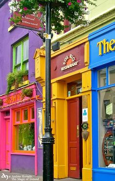 Westport, County Mayo - Ireland.  Oh my gosh - the colors!  ASPEN CREEK TRAVEL - karen@aspencreektravel.com