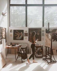 Pin by inge rahmawatie on alone art studios, art, dream art. Inspiration Art, Art Inspo, Studios D'art, Alone Art, Atelier D Art, Dream Studio, My Art Studio, Painting Studio, Studio Studio