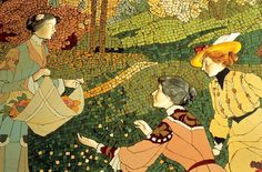Lluís Brú, 1905. Mosaic on Casa Lleó Morera's dining room walls. Barcelona