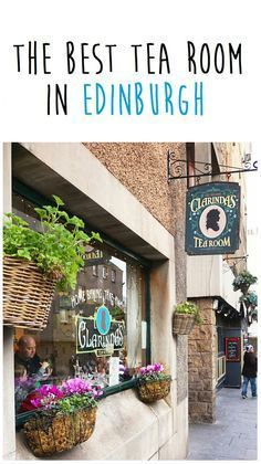 The best tea room in Edinburgh: Clarinda's Tea Room. I had the best scones, cakes and tea at this cozy tea room right near Holyrood Palace.