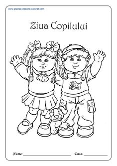 A coloring page with simple sentences, to work on both clothing words and colors. There is a word bank of basic colors at the bottom. Good for children 8 and under. Pie Pictures, Vocabulary Worksheets, Coloring Pages For Kids, Basic Colors, Boy Or Girl, Writing, Comics, Children, Fictional Characters