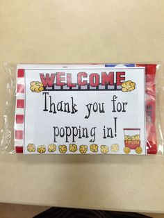 A great idea for back to school night or open house! A teacher next door gave my cooperating teacher and I this idea! Super cute!